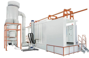 Plastic PP/PVC Automtic Powder Spray Booth