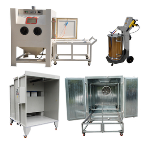 Sandblasting & Powder Coating Equipment Package for Car Rim