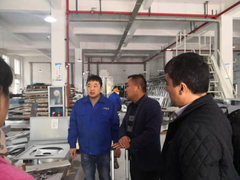Tajikistan Customer Visit COLO for Powder Coating Line