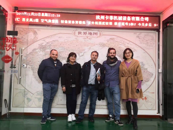 Spain Customers Visit COLO for Powder Coating Equipment