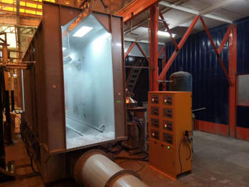 Stainless Steel Powder Booth System Installed in the Philippines