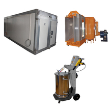 Manual Electrostatic Powder Coating Systems for Profiles, Frames.